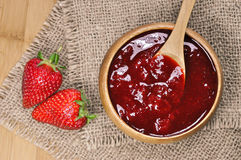 Strawberry jam or marmalade Royalty Free Stock Image