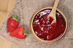 Strawberry jam or marmalade Royalty Free Stock Image