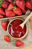 Strawberry jam or marmalade Royalty Free Stock Photo