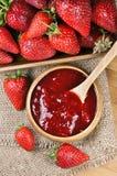 Strawberry jam or marmalade Royalty Free Stock Photo