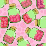 Strawberry jam pattern Royalty Free Stock Photos