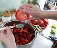 Strawberry jam. Royalty Free Stock Photos