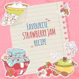 Strawberry jam poster Stock Photography