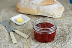 Strawberry jam Royalty Free Stock Photos