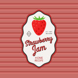 Strawberry jam retro fruit label Stock Image