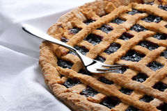 Strawberry Jam Tart Stock Photo
