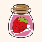 Strawberry jam theme elements vector,eps Stock Image