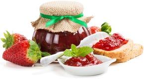 Strawberry jam with toast Stock Image