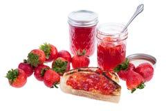 Strawberry Jam on Toast Royalty Free Stock Photo
