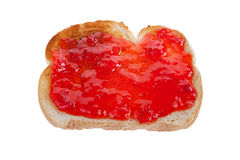 Strawberry Jam on Toast Royalty Free Stock Images