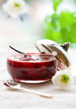 Strawberry jam with vanilla Royalty Free Stock Images