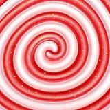 Strawberry jam and yogurt swirls. Stock Image