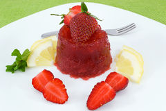 Strawberry jelly Stock Image