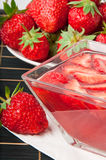 Strawberry jelly Stock Photos