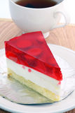 Strawberry jelly cake Royalty Free Stock Photos