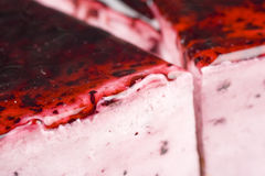 Strawberry jelly cake. Close-up of strawberry jelly cake Royalty Free Stock Photography