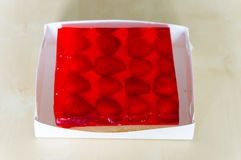 Strawberry jelly cake Stock Photo