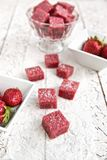 Strawberry jelly candies Stock Photo