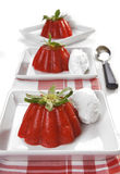 Strawberry jelly dessert Stock Images