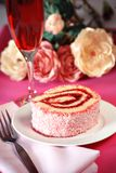 Strawberry jelly roll Stock Images
