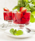 Strawberry jelly Stock Images