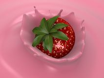 Strawberry jogurt Royalty Free Stock Photography