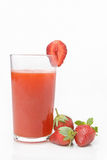 Strawberry juice Stock Photography