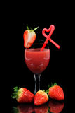 Strawberry and  juice Royalty Free Stock Photo
