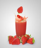 Strawberry juice Stock Photography