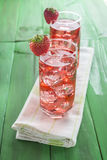 Strawberry juice based cocktail Stock Photos