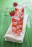 Strawberry juice based cocktail Royalty Free Stock Photography
