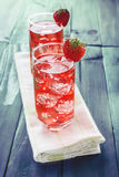 Strawberry juice based cocktail Stock Image