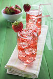 Strawberry juice based cocktail Royalty Free Stock Photo