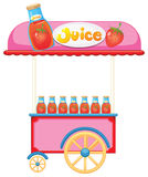 A strawberry juice cart Stock Image