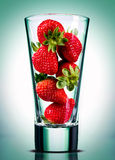 Strawberry juice conceptual. Strawberry juice unusual, in studio Royalty Free Stock Images