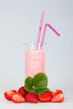 Strawberry juice. Strawberry fresh juice drink vitamine Stock Photography