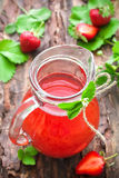 Strawberry juice Royalty Free Stock Images