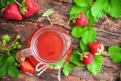 Strawberry juice Stock Images