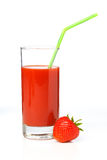 Strawberry juice in a glass Royalty Free Stock Photos