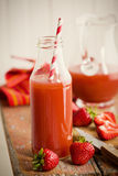 Strawberry juice in glass Royalty Free Stock Photography
