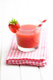 Strawberry juice in glass Stock Photo