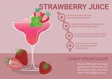 Strawberry Juice Infographic stock illustration