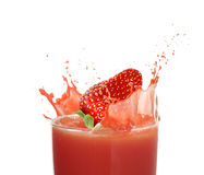 Strawberry juice Stock Image