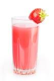 Strawberry juice. Isolated on white background Royalty Free Stock Images