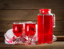 Strawberry juice Stock Images