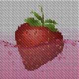Strawberry in juice knit generated texture Royalty Free Stock Photography