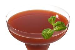 Strawberry juice in martini Stock Image