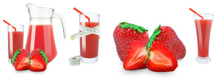 Strawberry juice and meter Royalty Free Stock Image