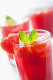 Strawberry juice with mint. summer drink Stock Photo