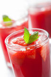 Strawberry juice with mint. summer drink Stock Photography